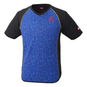 ニッタク 卓球ゲームシャツ デジックシャツ [サイズ:M] [カラー:ブルー] #NW-2185-09 NITTAKU DIGIC SHIRT|beautyfive