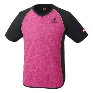 ニッタク 卓球ゲームシャツ デジックシャツ [サイズ:M] [カラー:ピンク] #NW-2185-21 NITTAKU DIGIC SHIRT|beautyfive