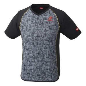 ニッタク 卓球ゲームシャツ デジックシャツ [サイズ:M] [カラー:グレー] #NW-2185-72 NITTAKU DIGIC SHIRT|beautyfive