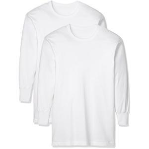 [グンゼ] インナーシャツ やわらか肌着 綿100% 抗菌防臭加工 長袖丸首 2枚組 SV61082 メンズ ホワイト 日本L (日本サイズL相当)|beautyh