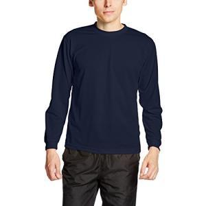 [グリマー] 長袖 4.4オンス ドライ ロングスリーブ Tシャツ [クルーネック] 00304-ALT ボーイズ ネイビー LL (日本サイズLL相|beautyh