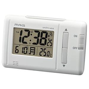 MAG(マグ) 目覚まし時計 電波 デジタル ファルツ 温度 カレンダー表示 ホワイト T-692WH-Z|beautyh