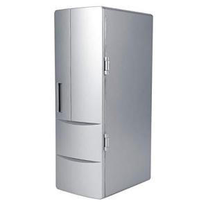 ミニ冷蔵庫 冷温庫 保温保冷庫 家庭 クーラー/ウォーマー 車載両用 卓上冷蔵庫 ポータブル USB電源 (シルバー) beautyh