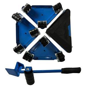 らくらくヘルパーセット 台車スマートセット 軽がるキャリー 家電の家具移動 重量物 移動用 (ブルー)|beautyh