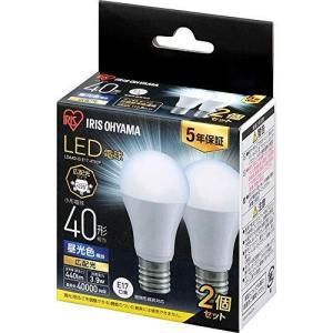 アイリスオーヤマ LED電球 口金直径17mm 広配光 40W形相当 昼光色 2個パック 密閉器具対応 LDA4D-G-E17-4T62Pの画像