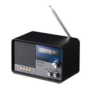 サンスイ Bluetoothスピーカー AM/FMラジオ付き ブラック|beautyh