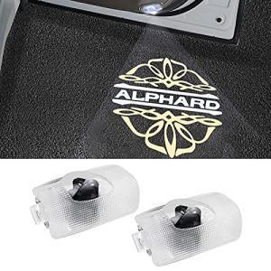 alphard 30系ロゴ カーテシランプ カーテシライト 20系ヴェルファイア/アルファード/ 50系エスティマ 車のドア装飾|beautyh