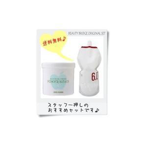 ナプラ アクセスフリー パウダーブリーチ(脱色剤)500g&ナンバースリープロアクションリクロマ(OX6%)2剤 大容量1200ml(パウチ)|beautyhair