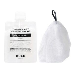 (洗顔・泡立てセット) バルクオム ザ・フェイスウォッシュ (洗顔料)& バブルネット(泡立てネット)  (ゆうパケットまたはクリックポスト送料無料)