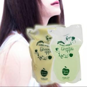 サニープレイス ナノサプリ クレンジングシャンプー 800ml (グリーンアップル)&ナノサプリエッセンスコンデ 800g (グリーンアップル) セット|beautyhair