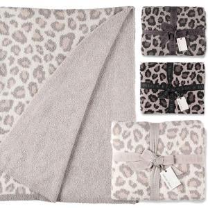 ベアフットドリームス ブランケット レオパード シングル Barefoot Dreams Cozychic Safari Blanket|beautyholic