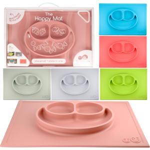 イージーピージー ハッピーマット Happy mat  ezpz ベビー食器 ベビー 子供 お食事マット ひっくり返らない ミニマット シリコンマット 離乳食 出産祝い|beautyholic
