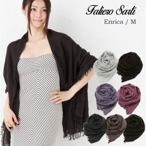 ファリエロサルティ ストール Faliero Sarti Enrica M エンリカ エム フリンジ カシミア シルク スカーフ|beautyholic