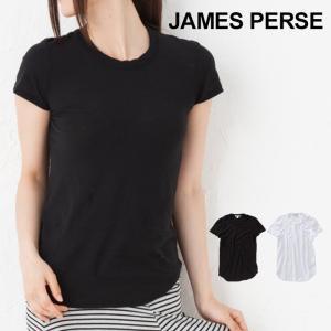 ジェームスパース レディース Tシャツ uネック JAMES PERSE  クルーネック  WUA3037 メール便送料無料|beautyholic