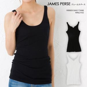 ジェームスパース レディース タンクトップ ノースリーブ JAMES PERSE RIBBED DAILY TANK WNL3102|beautyholic