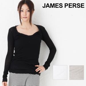 ジェームスパース レディース Tシャツ Vネック JAMES PERSE コットンカシミア ロング スキニーディープ|beautyholic