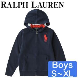 ポロラルフローレン/Polo Ralph Lauren キッズ コットントレーナー ビッグポニー ボーイズ パーカー 男の子|beautyholic