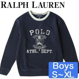 ポロラルフローレン/Polo Ralph Lauren コットン クルーネック スウェットシャツ 男の子|beautyholic
