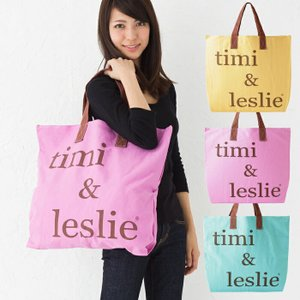 ティミ&レスリー timi&leslie トートバッグ ロゴバッグ キャンバスバッグ|beautyholic