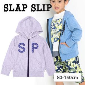 【 SLAP SLIP / スラップスリップ 】 天竺防虫加工ロゴプリントパーカー 子供服 BeBe...