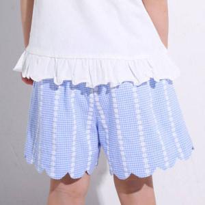 【 SLAP SLIP / スラップスリップ 】 チェック柄 スカラップ ショートパンツ 子供服 B...