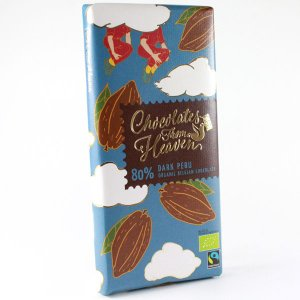 ペルー産カカオ80%のダークチョコレート。(シングルオリジン) 驚くほどフルーティーな香りで濃厚なダ...