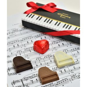 ゴーセンスチョコレート  ピアノ&ハートセット 4粒入|bebebe
