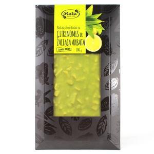 Ruta ルタ レモングリーンティー&ホワイトチョコレート 100g トッピングタブレット|bebebe
