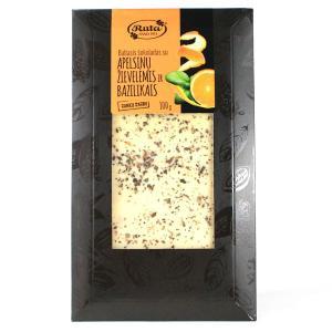 口溶けまろやかなホワイトチョコレート。人気のオレンジ味にバジルの香りが絶妙のマッチングしています。 ...