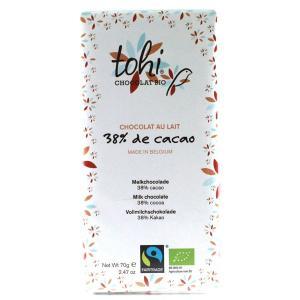 TOHI トヒ ミルクチョコレート カカオ38%〈38%ミルク〉70gタブレット|bebebe