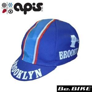 apis BROOKLYN ブルー 自転車 キャップ サイクルキャップ|bebike