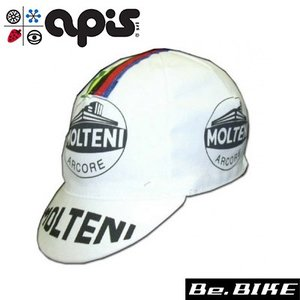 apis MOLTENI ホワイト 自転車 キャップ サイクルキャップ|bebike