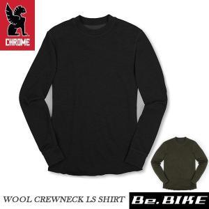 CHROME クローム WOOL CREWNECK LS SHIRT ウール クルーネック LS シャツ|bebike
