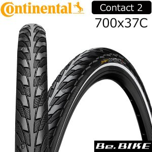 Continental(コンチネンタル) Contact 2 black Reflex 700x37C 自転車 タイヤ|bebike