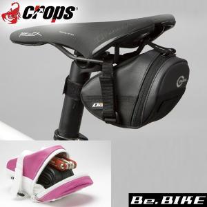 Crops(クロップス) GN02 GINA サドルバック 2 ブラック/ブラック 自転車 サドルバッグ|bebike