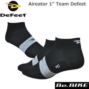 "DeFeet Aireator 1"" Team Defeet ブラック自転車 ソックス 靴下|bebike"
