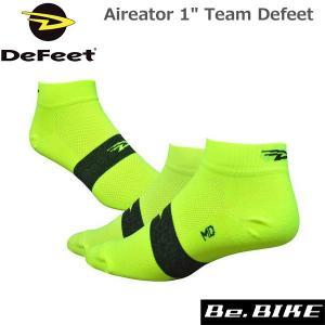 "DeFeet Aireator 1"" Team Defeet ハイビズイエロー自転車 ソックス 靴下|bebike"