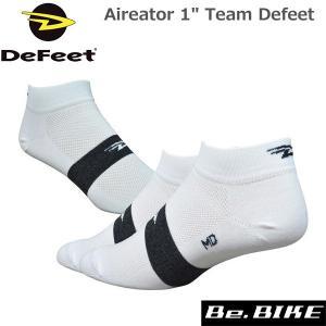 "DeFeet Aireator 1"" Team Defeet ホワイト自転車 ソックス 靴下|bebike"