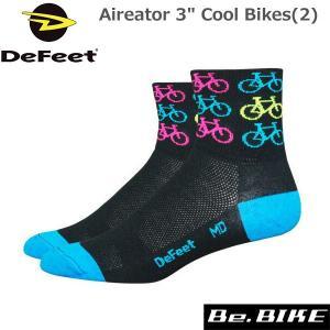 "DeFeet Aireator 3"" Cool Bikes(2) 自転車 ソックス 靴下|bebike"