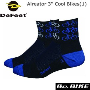 "DeFeet Aireator 3"" Cool Bikes(1) 自転車 ソックス 靴下|bebike"