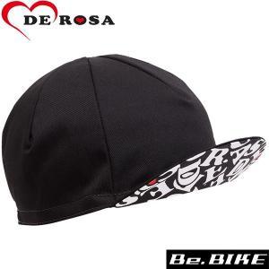 DE ROSA(デローザ) 470 UNDER VISOR REVO CAP ブラック F 自転車 サイクルキャップ|bebike