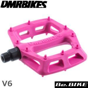 DMR BIKES V6 Plastic Pedal Cro-Mo Axle ピンク 自転車 ペダル(フラットペダル)|bebike