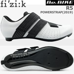フィジーク R5 POWERSTRAP ホワイト/ブラック  自転車 シューズ ロードバイク ロード...