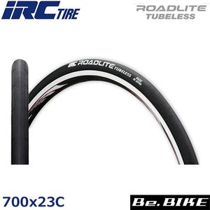 IRC ロードライト チューブレス 700x23C ブラック 自転車 タイヤ|bebike