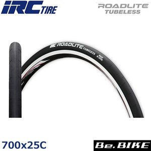 IRC ロードライト チューブレス 700x25C ブラック 自転車 タイヤ|bebike