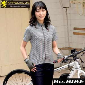 カペルミュール 半袖ジャージ ジャカード ミニ千鳥 自転車 サイクルウエア (kphs149)|bebike