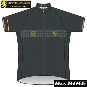 カペルミュール 半袖ジャージ ブラックデニムプリント 自転車 サイクルウエア 半袖 (KPHS287)|bebike