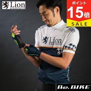 カペルミュール 半袖ジャージ 千鳥チップ ホワイト×ネイビー 自転車 サイクルウエア 半袖 (LIHS011)|bebike