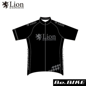 カペルミュール 半袖ジャージ 千鳥チップ ブラック×グレー 自転車 サイクルウエア (lihs203)|bebike