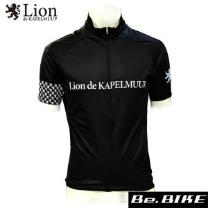 カペルミュール 半袖ジャージ アラベスク ブラック 自転車 サイクルウエア (lihs208)